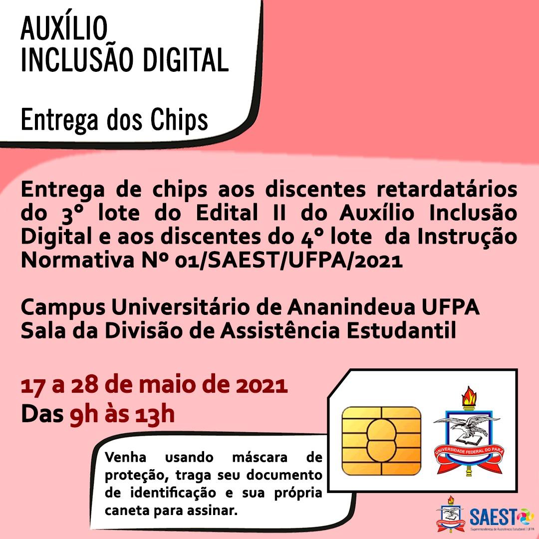 Novo Período de Entrega de CHIPS do Auxílio Inclusão Digital